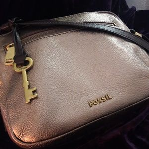 Champagne Fossil Leather Crossbody